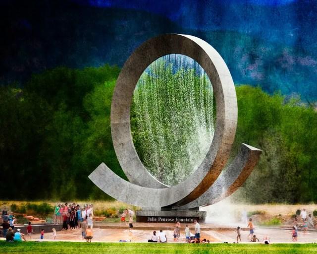 Fontein 21 - Julie Penrose Fountain, Colorado Springs USA