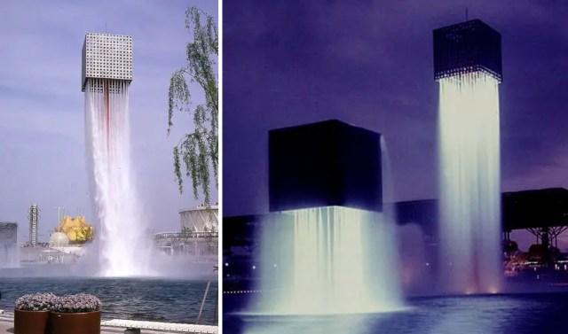 Fontein 8 - Nine Floating Fountains, Osaka Japan