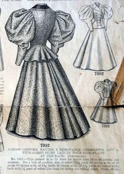 Naaipatroon 1890 - Butterick