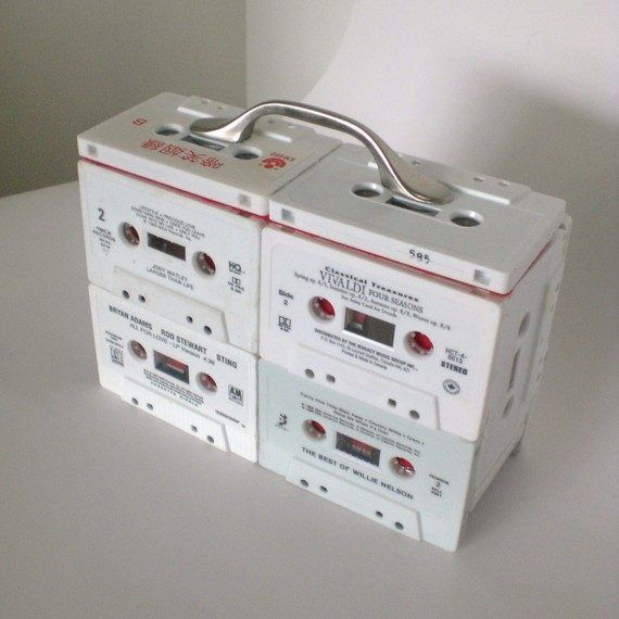 cassettebandje recycle opbergbox