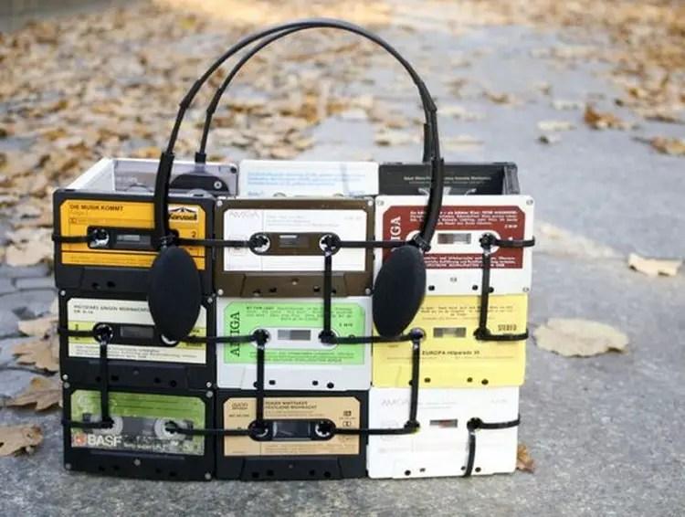 cassettebandje recycle tas