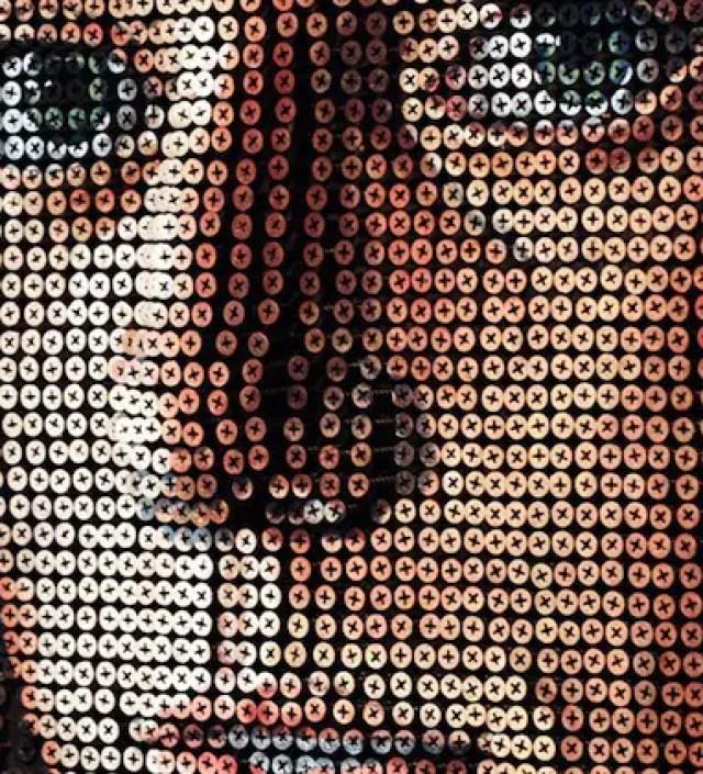 Deze kunstenaar 'schildert' prachtige portretten met schroeven