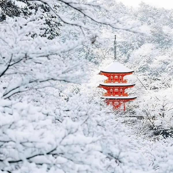 Kyoto in de sneeuw - uitgelicht