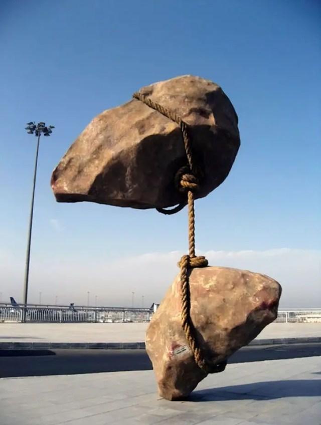 zwevende steen