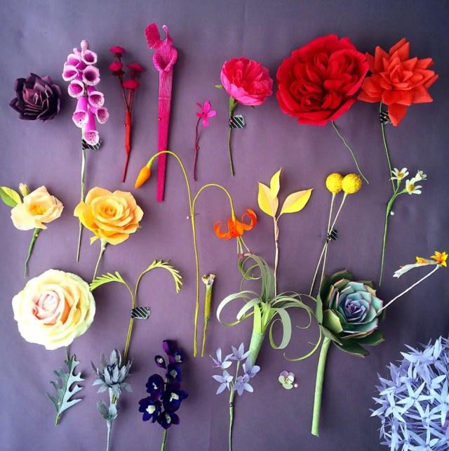 Bloemen van crêpepapier