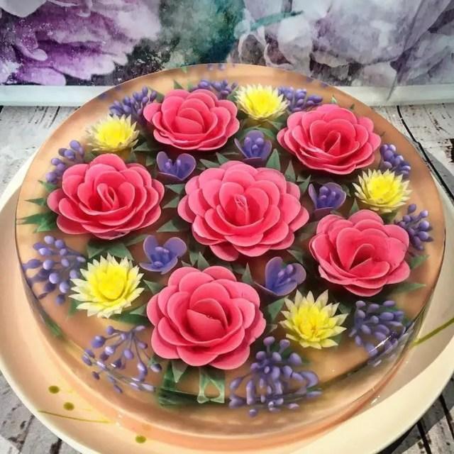taarten met bloemen