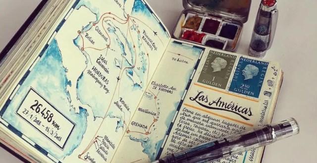 Hoe memoires, illustraties en schilderingen samenkomen in een reisdagboek