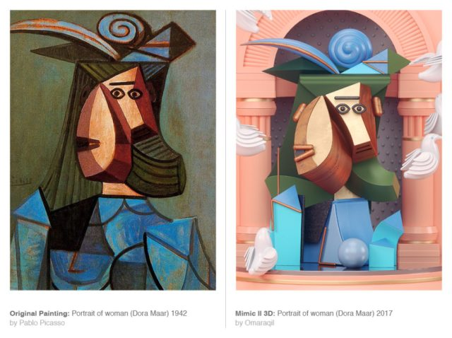 picasso in 3d