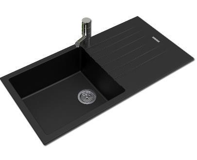 granite matte black kitchen sink bkss 1050