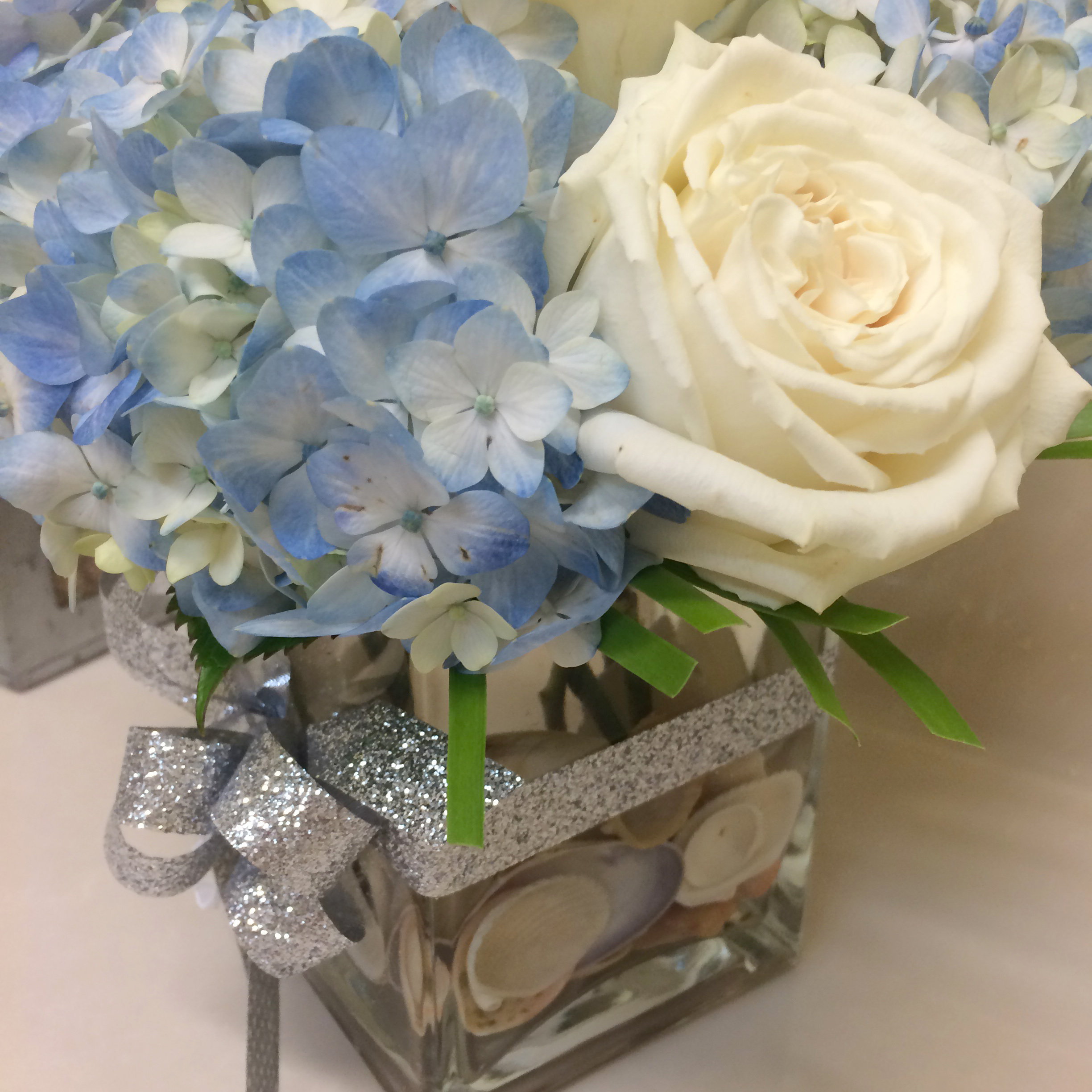 Centerpieces Square Vase Flowers Beach And