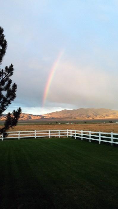 Rainbow overlooking yard of Sexual Addiction Treatment Center