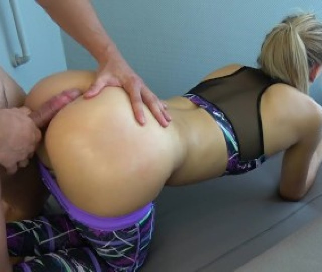 Step Brother Grinding And Cums On Yoga Pants Step Sister While Working Out