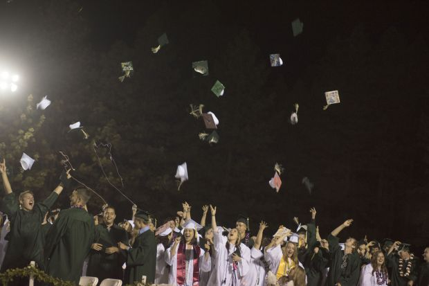 Photo provided by Michael Mundt.The The Paradise High School Class of 2018 celebrates its graduation on the Thursday night at Om Wraith Field,