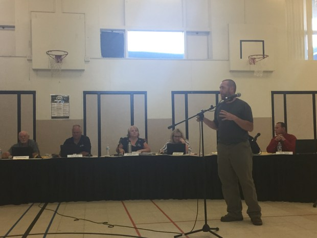 Jacob Timm PUSD director of facilities, maintenance and operations spoke on the Paradise High School fence project.