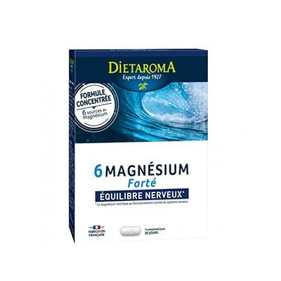 6 Magneziu forte - echilibru nervos, 30 comprimate, Dietaroma
