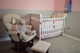 a white baby crib