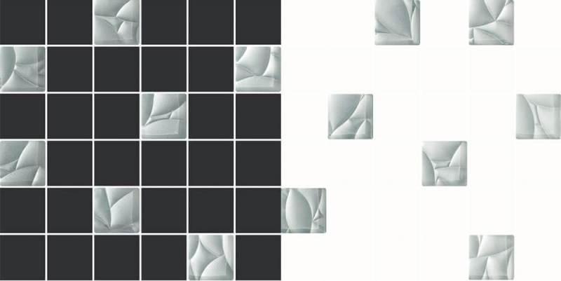 Mozaika Mix Grafit Silver iMix Bianco Silver, Ceramika Paradyż.