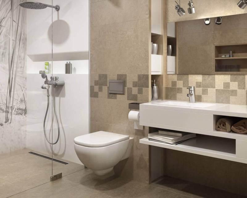 Jasna, mała łazienka zprysznicem