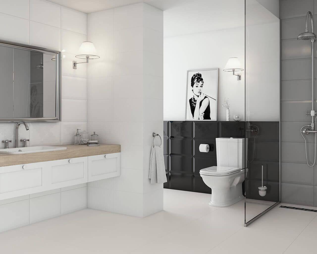 классический бело-черно-ванной-ВЭО