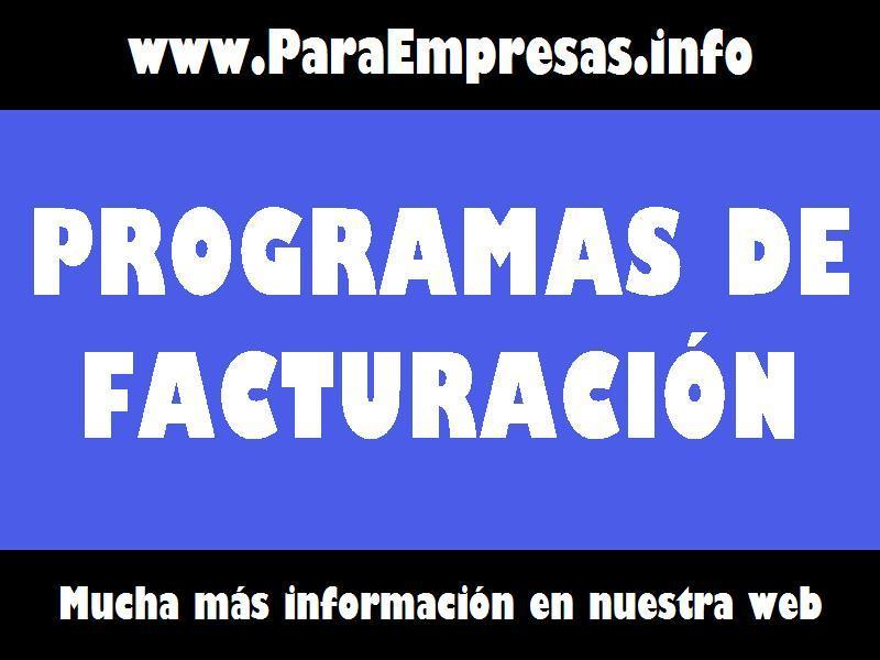Programas de Facturación