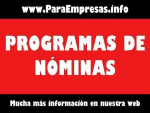 programas de nóminas