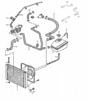 Porsche 968 Cooling Hose Diagram