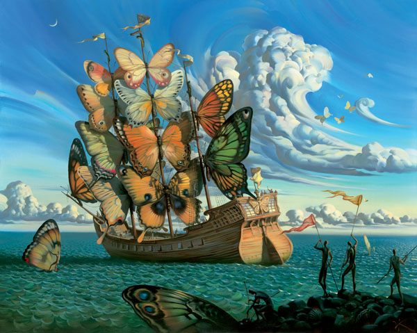 DEPARTURE OF THE WINGED SHIP<br />