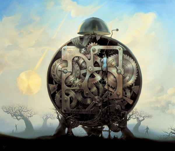 MILLENIUM WATCHMAN<br />14 x 16<br />Edition: 1000<br />31 x 35<br />Edition: 1000 by Vladimir Kush