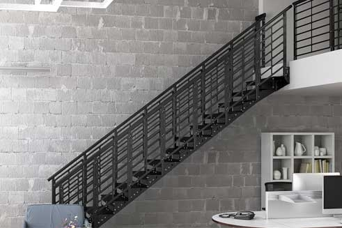Metal Staircases Prefab Indoor Outdoor Paragon Stairs   Premade Outdoor Stair Railing   Wood   Metal   Concrete Steps   Rail Kit   Handrail Kits