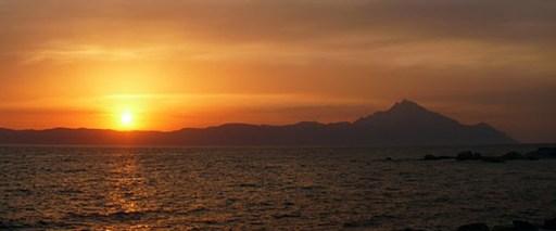 góra athos wschód słońca