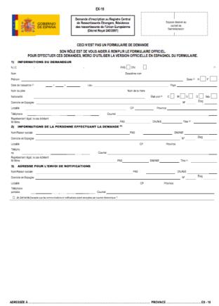 formulario en francés
