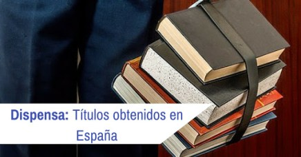 Títulos obtenidos en España
