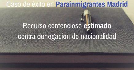 Recurso Contencioso Nacionalidad: Estimado