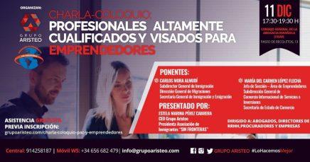 Charla: Profesionales altamente cualificados y visados para emprendedores