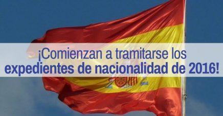 expedientes de nacionalidad española de 2016
