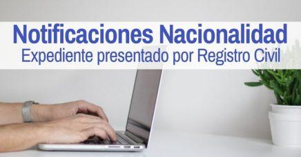 notificaciones nacionalidad registro civil