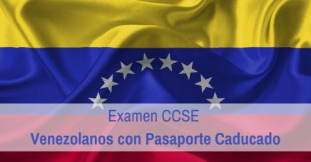 CCSE venezolanos pasaporte caducado
