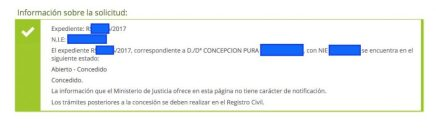 Concesiones de Nacionalidad Española Concepción Pura