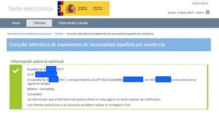 Concesiones de Nacionalidad Española Felix