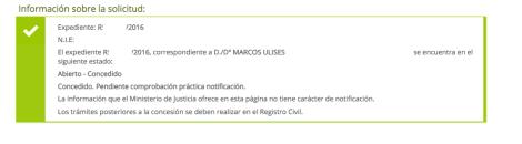 concesiones de nacionalidad Marcos Ulises. EXPEDIENTE RESUELTO SIN CONTENCIOSO PRESENTADO POR VIA TELEMATICA, 8 MARZO DE 2016