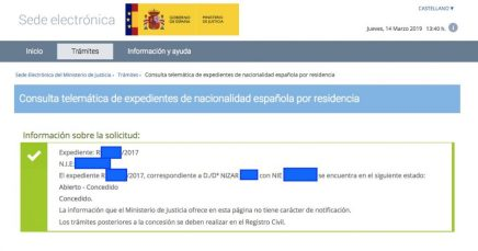 Concesiones de Nacionalidad Española Nizar