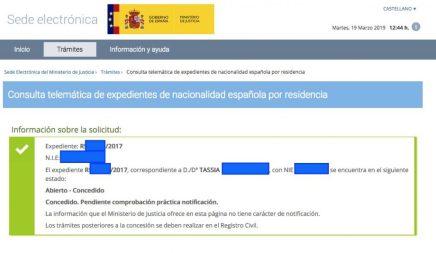 Concesiones de nacionalidad española Tassia