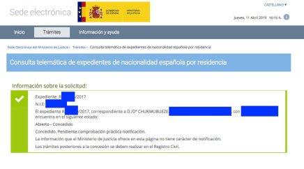 Concesiones de Nacionalidad Española Chukwubueze