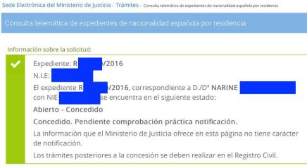 Concesiones de Nacionalidad Española - Narine