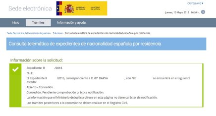 Concesiones de Nacionalidad Española Darya
