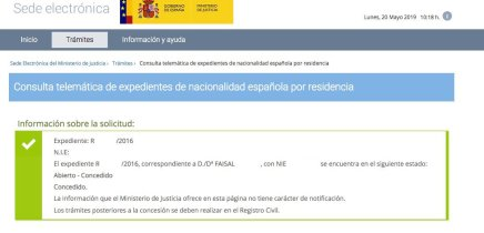Concesiones de Nacionalidad Española Faisal