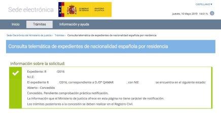 Concesiones de Nacionalidad Española QAMAR