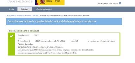 resoluciones de concesión de nacionalidad española Abdul