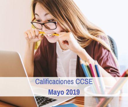 Calificaciones CCSE Mayo 2019