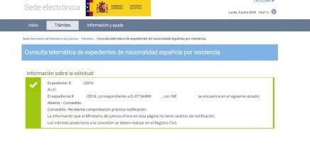 Resoluciones de concesión de nacionalidad española Samir
